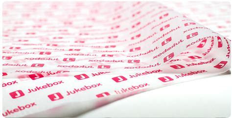 Printed Tissue Paper from Jukebox Print