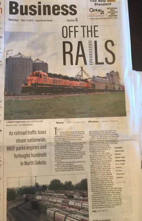 North Dakota Railroad Engines Idle