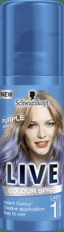 Schwarzkopf, Live Color, makijaż do włosów w sprayu, Purple Kiss, 100 ml, nr kat. 272527