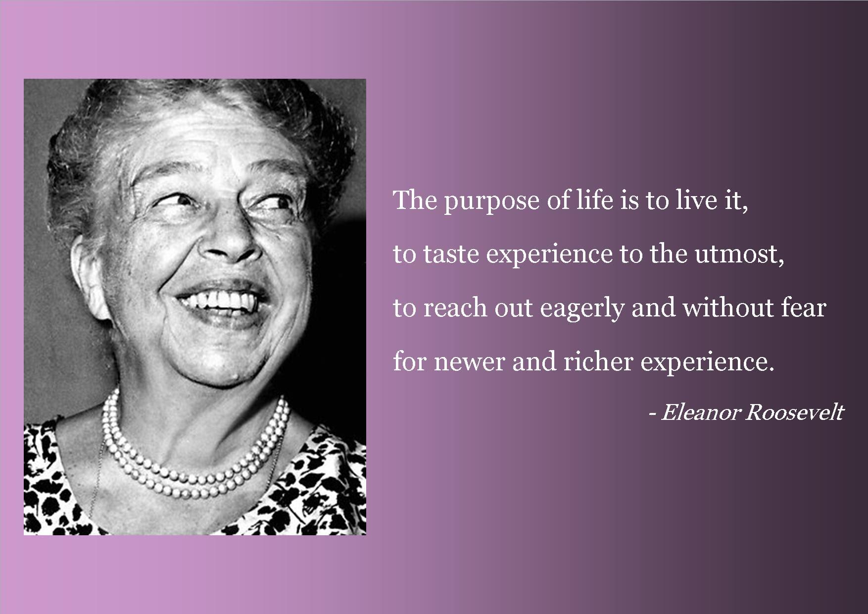 Eleanor Roosevelt quotes  Master of Something I\u002639;m Yet To