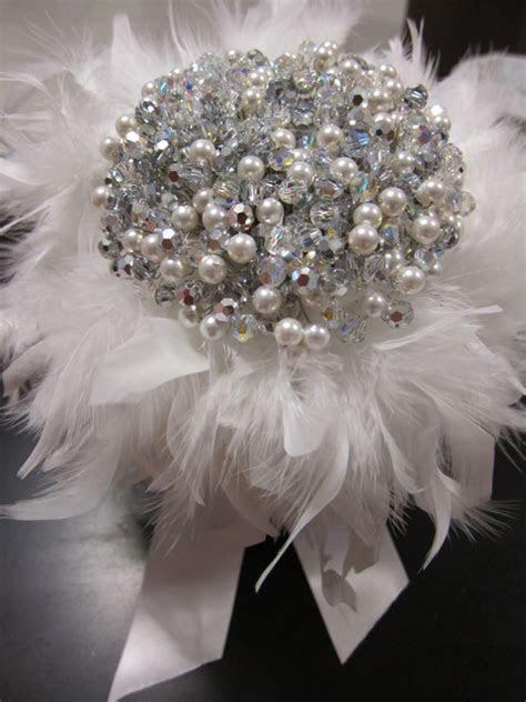 DIY Crystal Pearl bouquet   Weddingbee Photo Gallery