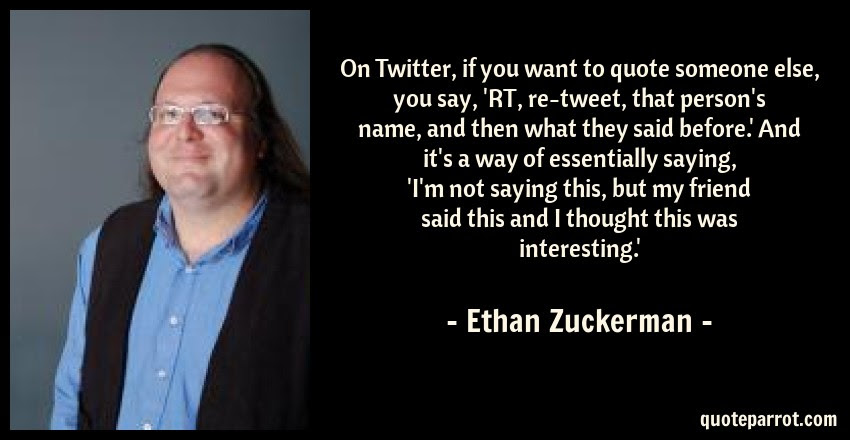On Twitter If You Want To Quote Someone Else You Say By Ethan