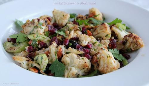 Roasted Cauliflower & Almond Salad