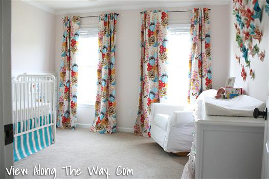 Girl Nursery Summer Totem Curtains