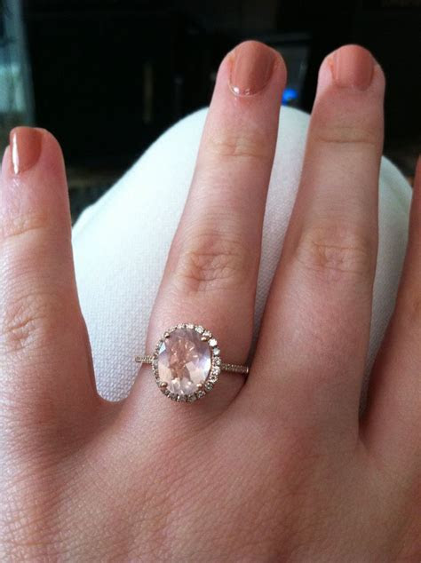 My beautiful engagement ring! Rose gold band with small