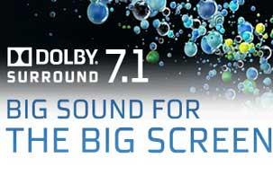 El sonido 7.1 de Dolby casi es el