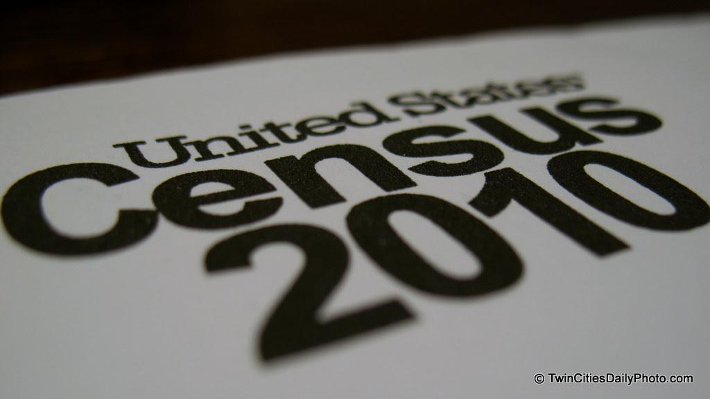 Macro shot of the US Census 2010 letterhead.