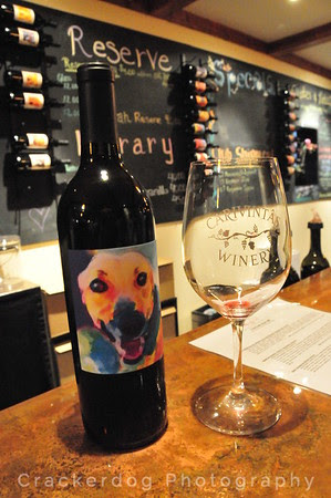 The 2007 greyhound-labeled Russian River syrah. Tennile the broken-legged greyhound is featured on the back label of both red and white wines.