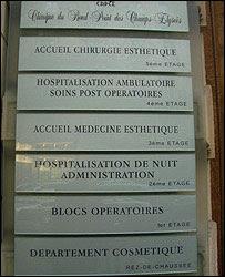 Anuncios en clínica