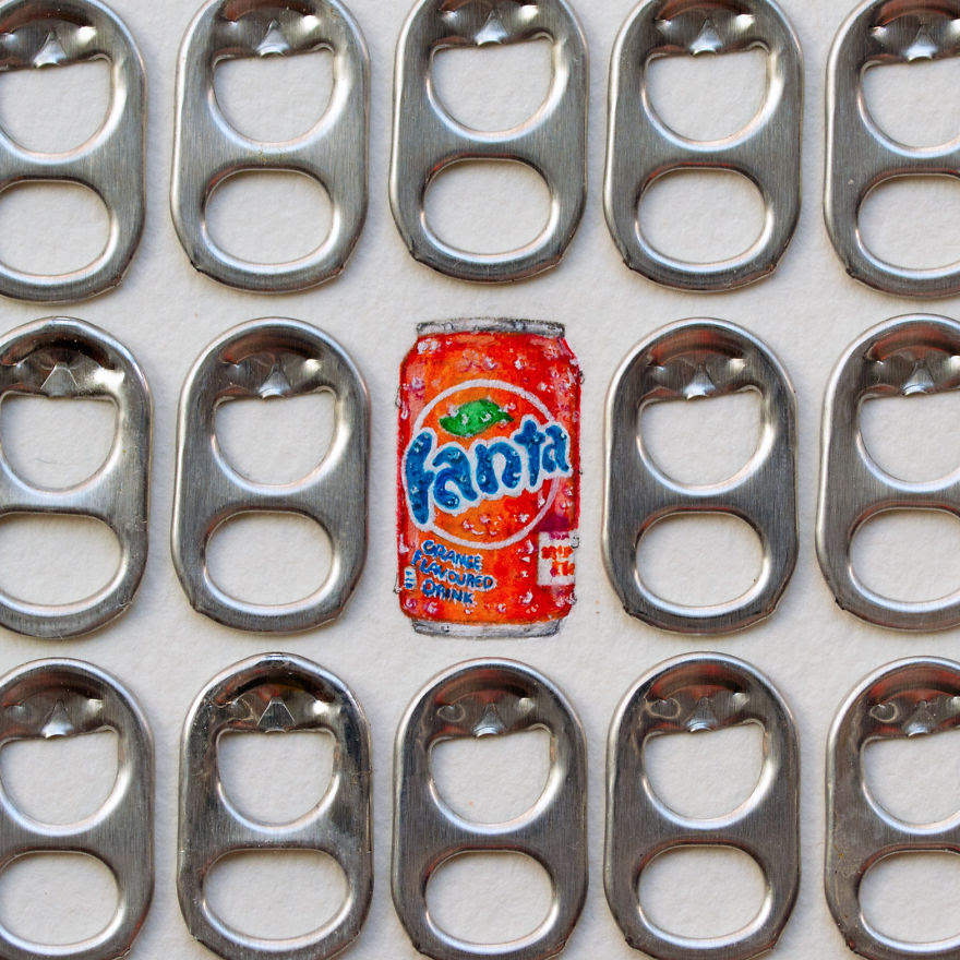 "Fanta. The Letter F For The ""mini-market"" Series. ""mini-market"" Consists Of A Brand For Each Letter Of The Alphabet"