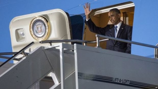 US President Barack Obama at Nairobi airport