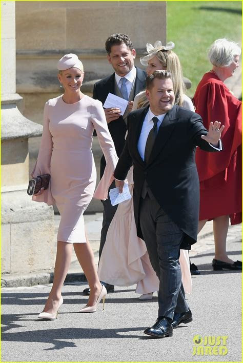 James Corden Attends the Royal Wedding with Wife Julia