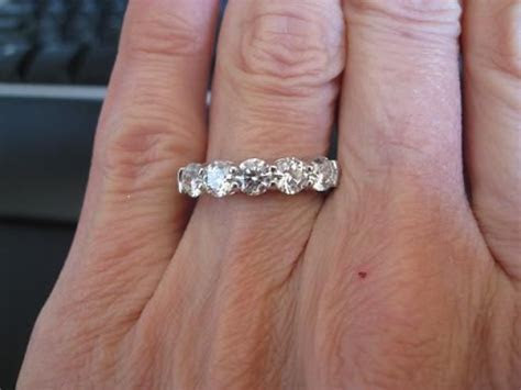 5 stone ring choice: 1.25 ctw (G VS2) or 1.62 ctw (I VS2