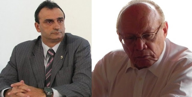 Delegado Marcos Affonso Júnior e o senador João Alberto