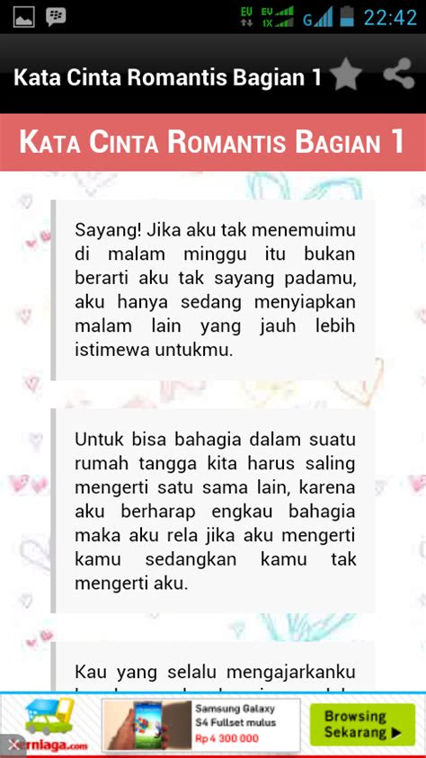 kata kata cinta romantis android apps  google play