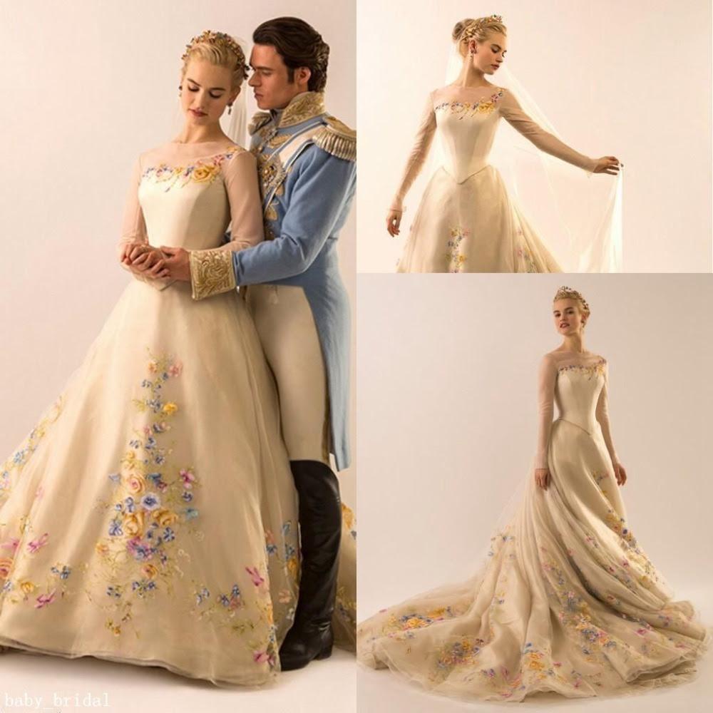 Kualitas tinggi Cinderella Ball Gown Wedding Dresses Beli