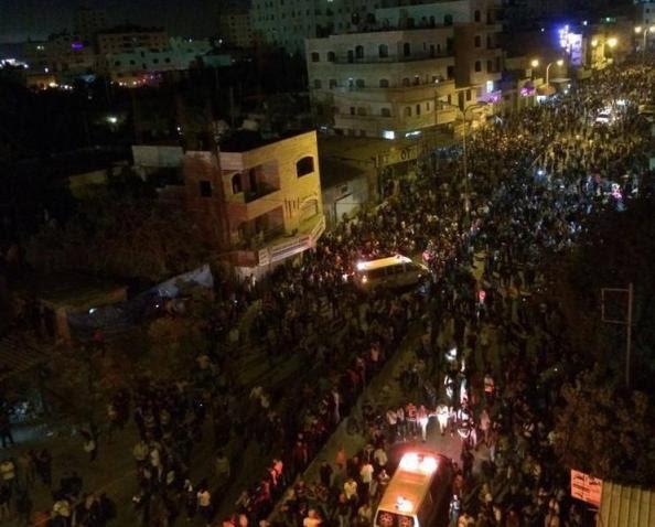 manifestation ramallah jerusalem