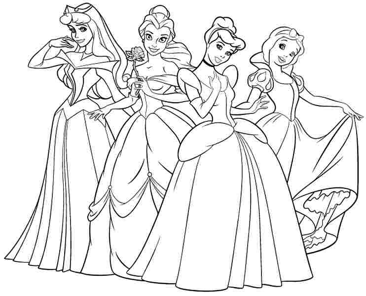 Princess Coloring Pages To Print Coloring And Drawing