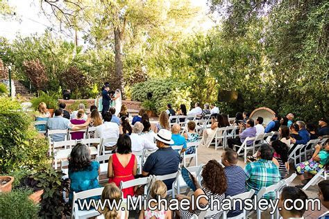 Wedding ceremony at the Tucson Botanical Gardens wedding