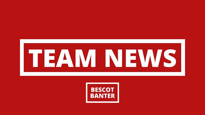 Team News: v Brighton & Hove Albion U21s (H)