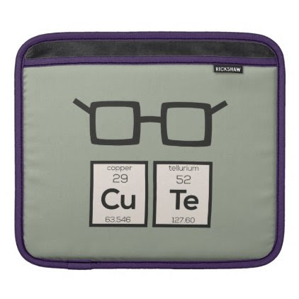 Cute chemical Element Nerd Glasses Zwp34 Sleeve For iPads