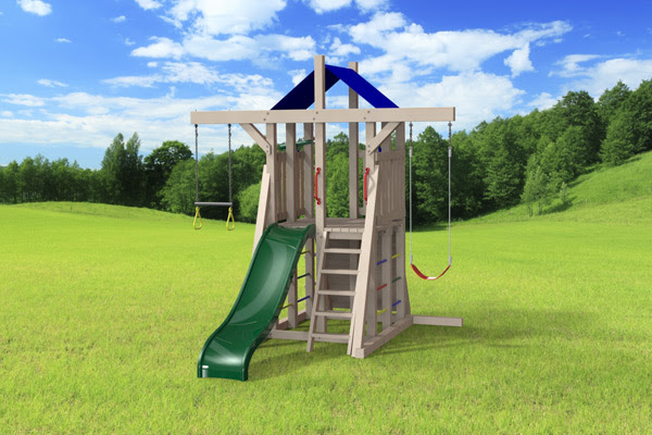 Outdoor Swing Set The Compact 4x4 Jeux Modulair
