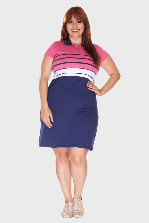 Vestido-Polo-Listrado-Plus-Size