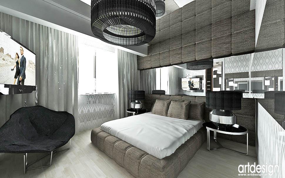 Luksusowy Designerski Dom W Katowicach Wnętrze Sypialni łazienki