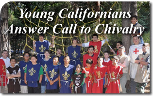 Young Californians Answer Call to Chivalry