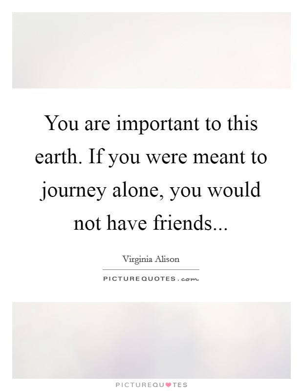 You Are Important To This Earth If You Were Meant To Journey