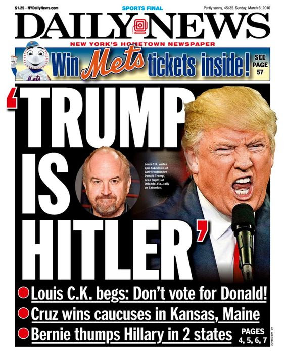 New York Daily News front pages on the presidential election ...