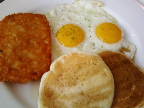 Eggs and Pancakes at Corduroy Cafe Vivocity