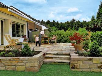 Outdoorküche Mit Kühlschrank Xs : Steine verlegen garten