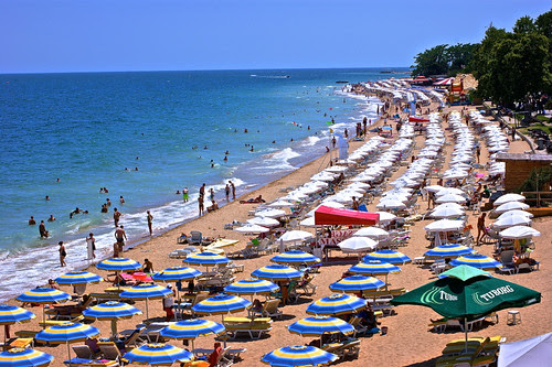 Golden Sands beach in Bulgaria