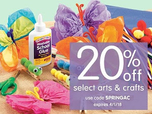 SAVE 20% Off Select Arts & Crafts + Free Shipping On Orders Over $299 Using Code: SPRINGAC!