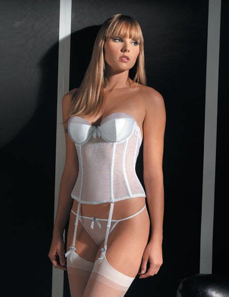 CLEARANCE: Bridal Bustier with Top Sheer Panel   Wedding