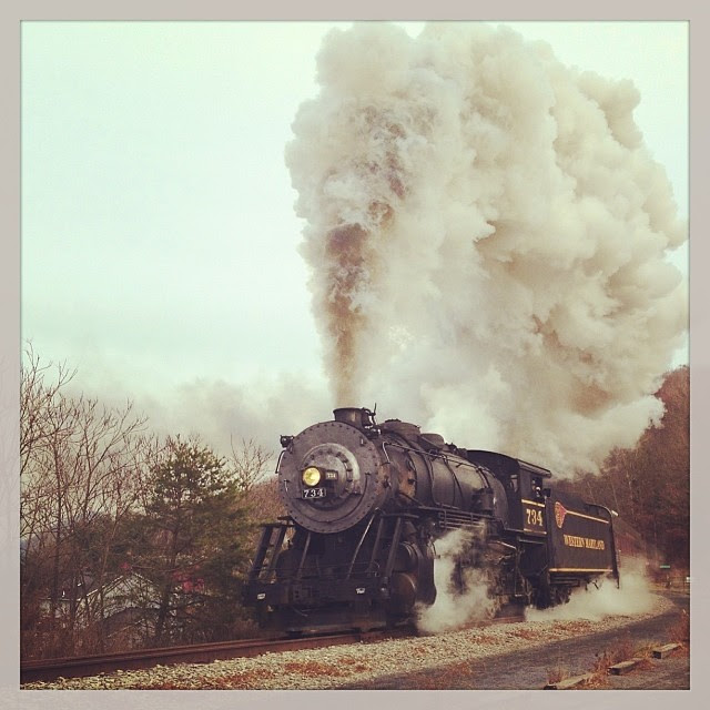 Our afternoon adventure...chasing 734... #westernmarylandscenicrailroad, #steamengine