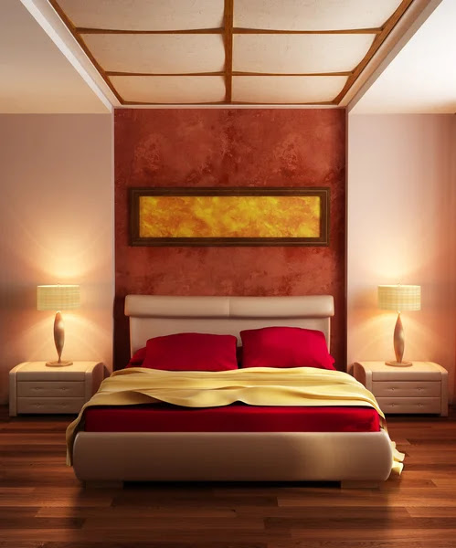 Modern style bedroom interior 3d Stock Photo © auris