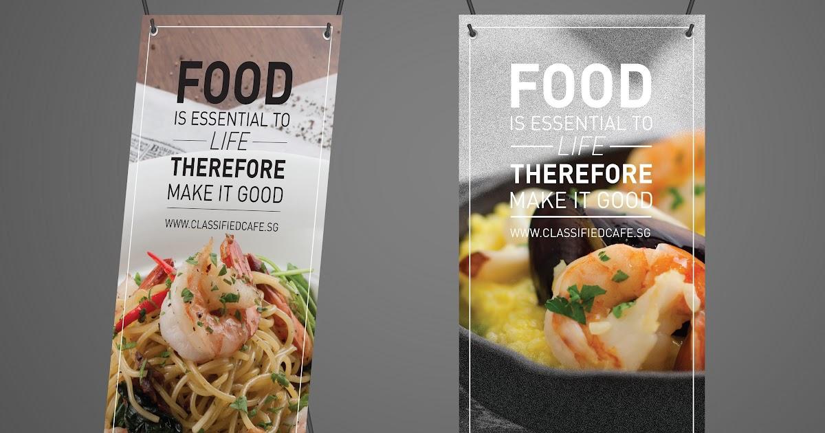 Desain X Banner Makanan - desain spanduk keren