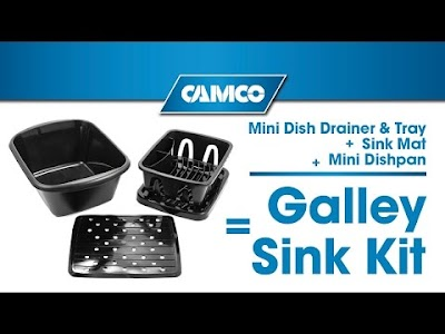 Camco RV Products: Galley Sink Kit, Water Pressure Regulators, Power Grip Replacement Plug & Charcoal Odor Eliminating Bags