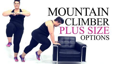 mountain climber exercise modification  size
