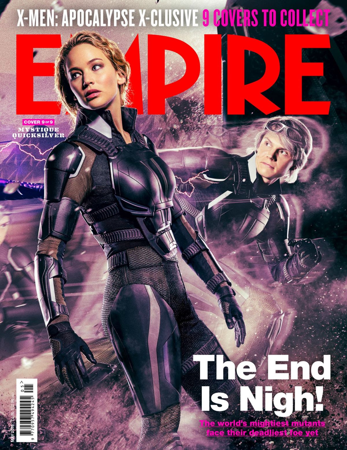 JENNIFER LAWRENCE and SOPHIE TURNER in Empire Magazine, May 2016 Issue
