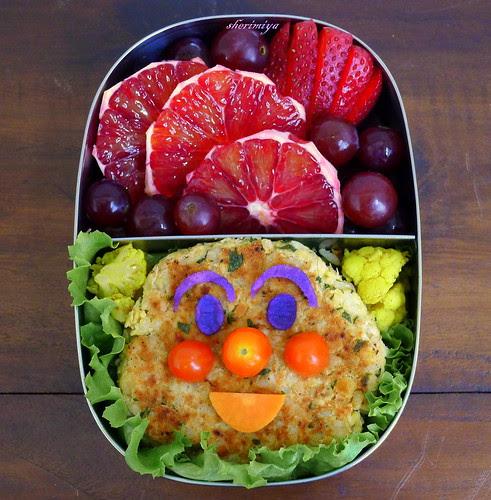 Anpanman Bean Burger Bento by sherimiya ♥