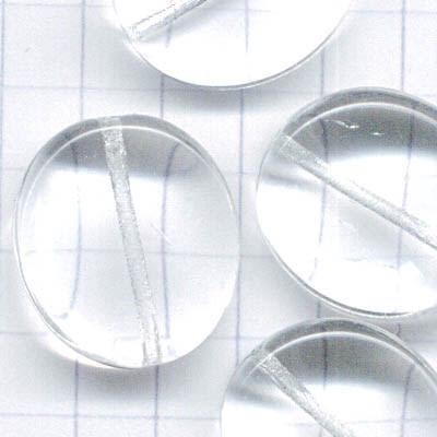 27800407-00 Glass - Large Wavy Pancake - Crystal (1)