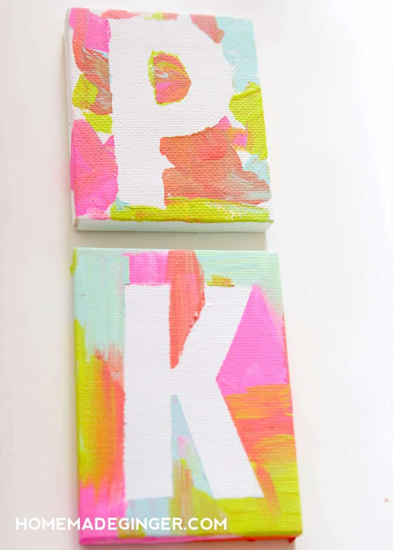 Kids Art Ideas Mini Canvas Magnets Homemade Ginger