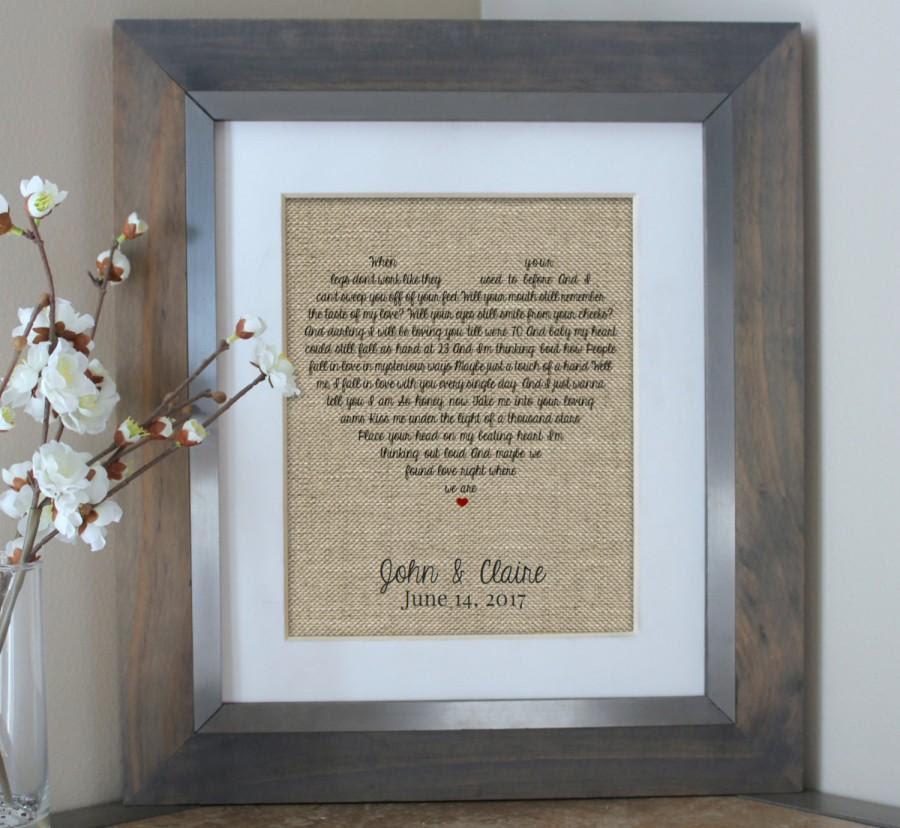 Wedding Gift Husband Gift Wedding Song Lyrics Personalized Wedding