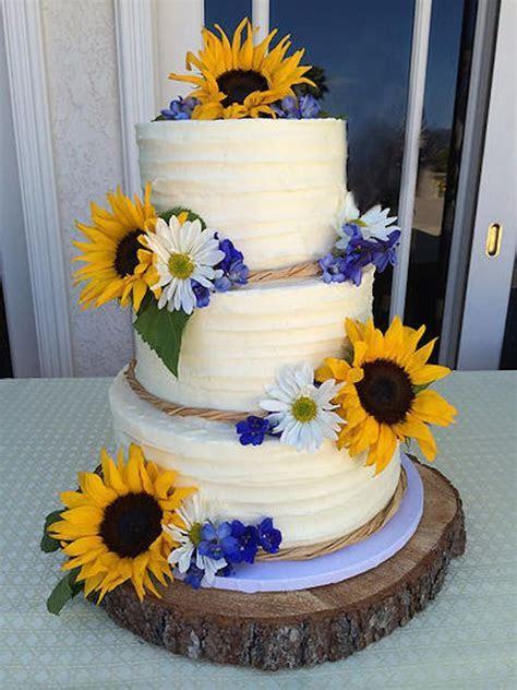 121 Amazing Wedding Cake Ideas You Will Love   Sunflower