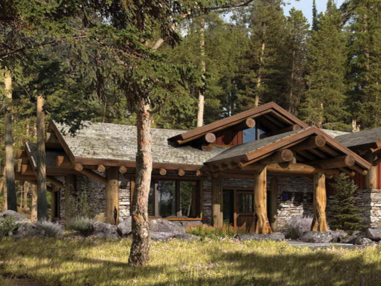 Small Traditional Homes Small Rustic Mountain Home Plans