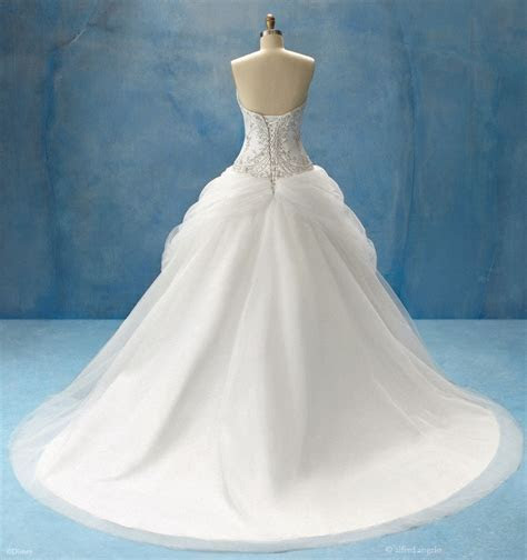 Belle inspired wedding gown (back) by alfred angelo   the