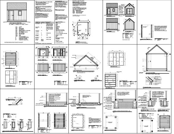 Storage Shed Plans 8x8 Free Amish Shed Plans